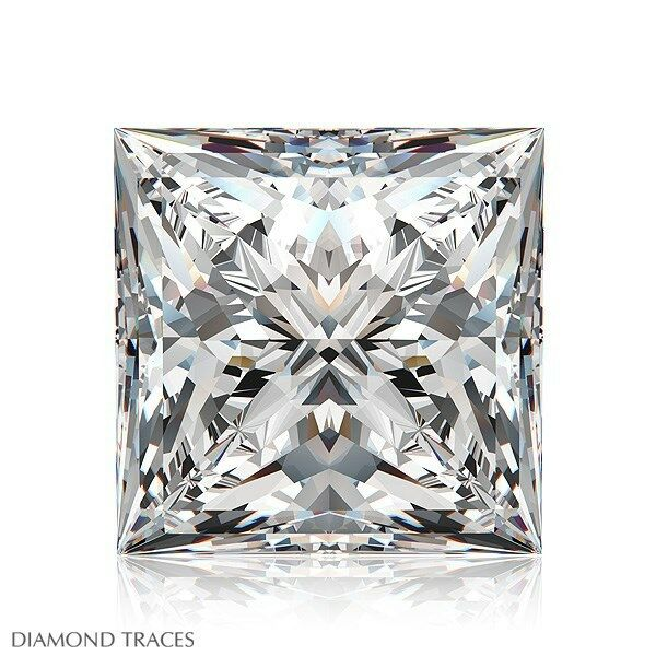0,93 Ct I-vvs1 Ideal Poliert Prinzessin Schnitt Agi 100% Original Diamant