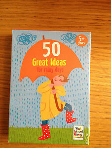NEW SEALED  50 Great Ideas for a Rainy Day Card Game  Paul Lamond Games - telford, Shropshire, United Kingdom - Returns accepted Most purchases from business sellers are protected by the Consumer Contract Regulations 2013 which give you the right to cancel the purchase within 14 days after the day you receive the item. Find out - telford, Shropshire, United Kingdom