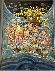 Jack-Davis-ORIGINAL-WATER-COLOR-PAINTING-GALAXY-QUEST-CREW-amp-CHARACTERS
