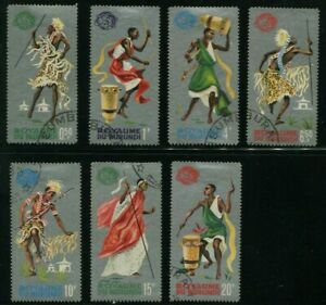 1964-Burundi-Stamps-Complete-Set-SC-88-94-A10-USED