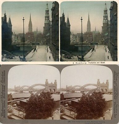 20 Stereoviews Hamburg In Germany - 1906 Lot 3