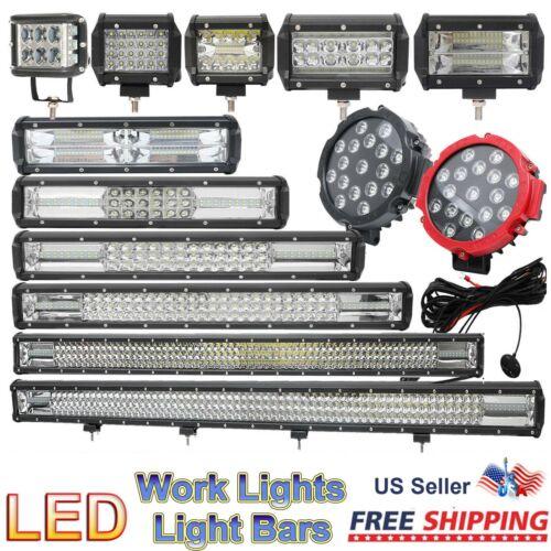 Car Work ATV SUV Off-Road Fog Driving Cree LED Work Lights Bars 12V24V or Wiring
