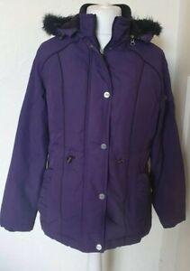 Per-una-stormwear-purpura-al-aire-libre-para-Caminar-Abrigo-Chaqueta-Con-Capucha-Talla-M