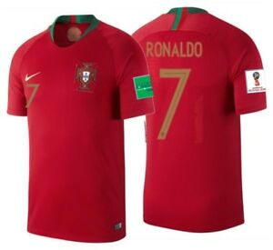 detailed look 47380 309db Details about NIKE CRISTIANO RONALDO PORTUGAL HOME JERSEY WORLD CUP 2018  PATCHES.