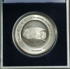 Laos-15000-Kip-Hologram-Silver-Proof-Coin