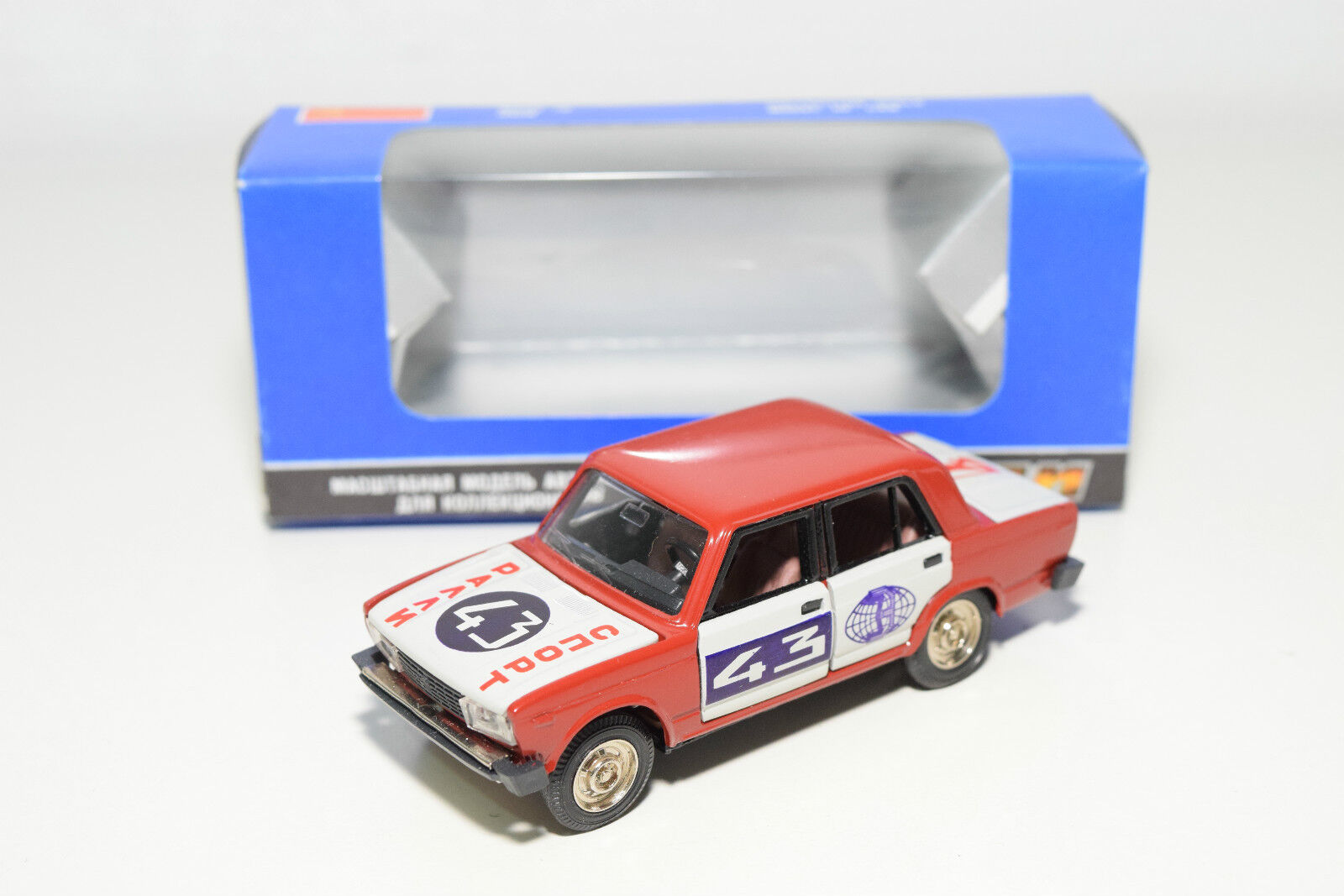 RUSSIAN CCCP USSR NOVOEXPORT LADA 2105 BA3 RALLY rouge MINT BOXED
