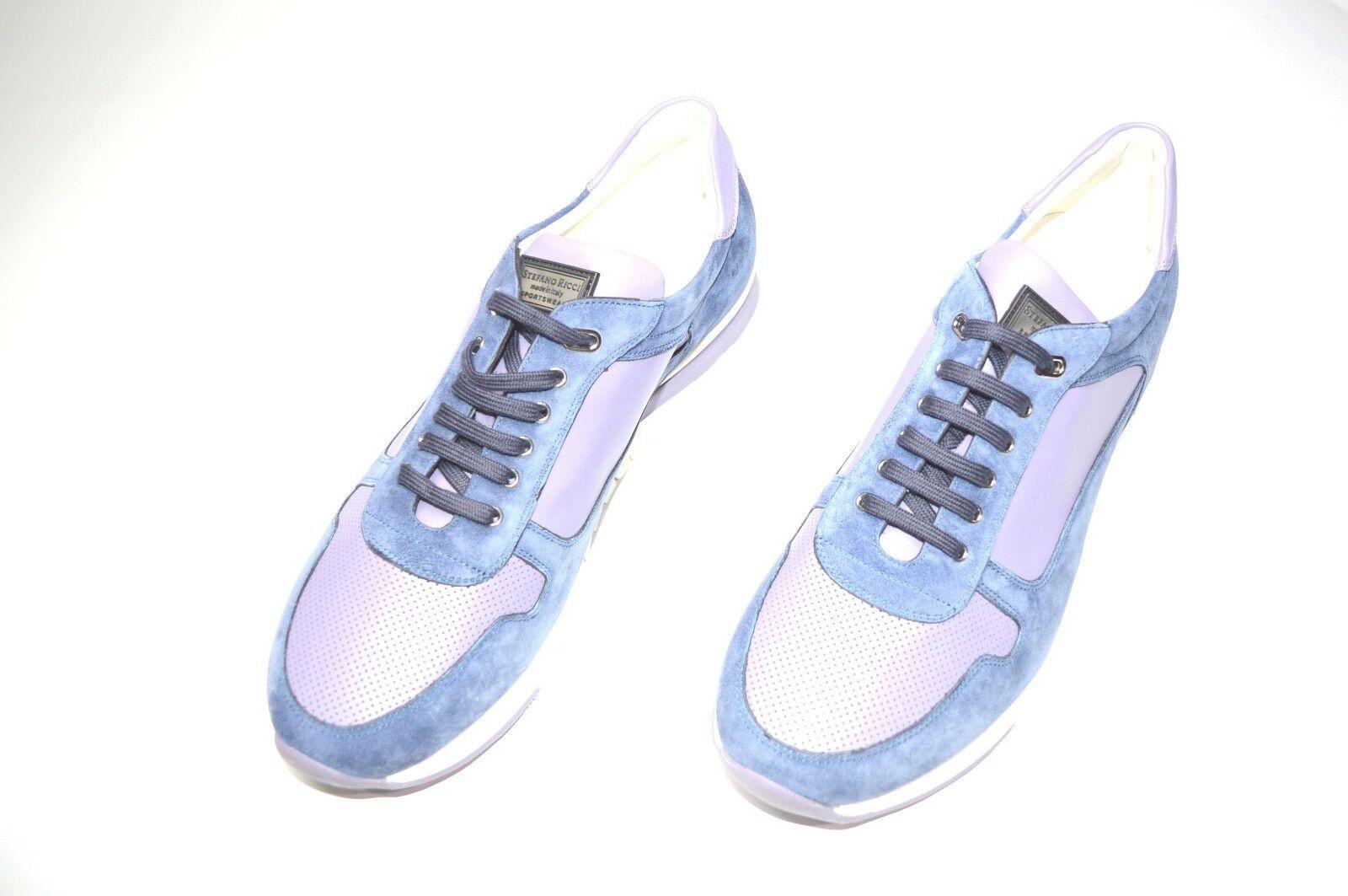 Nuevo De Lujo Cuero STEFANO RICCI Zapatos Talla nos 7.5 (COD A212)