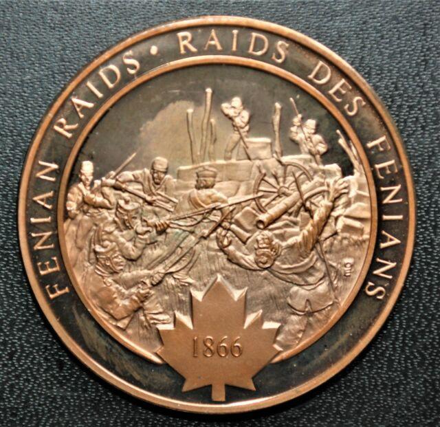 1866 Fenian Raids: 1972 History of Canada Proof Bonze Medal