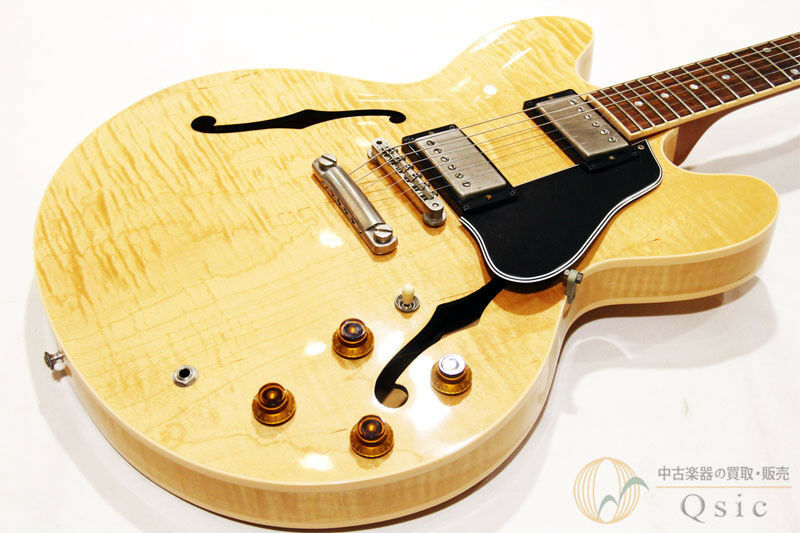 Gibson ES-335 Dot Reissue Natural Flamed Top 2001 beautiful rare EMS F S