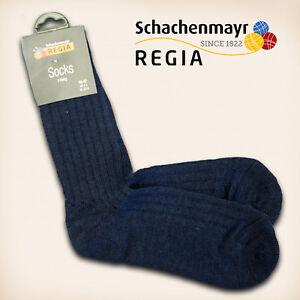 1-Paar-Regia-Gr-38-39-034-Fertigsocken-034-Marine-Schachenmayr-Sockenwolle-Socken