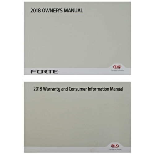 New Owners Operators Manual Set Books For 2018 Kia Forte