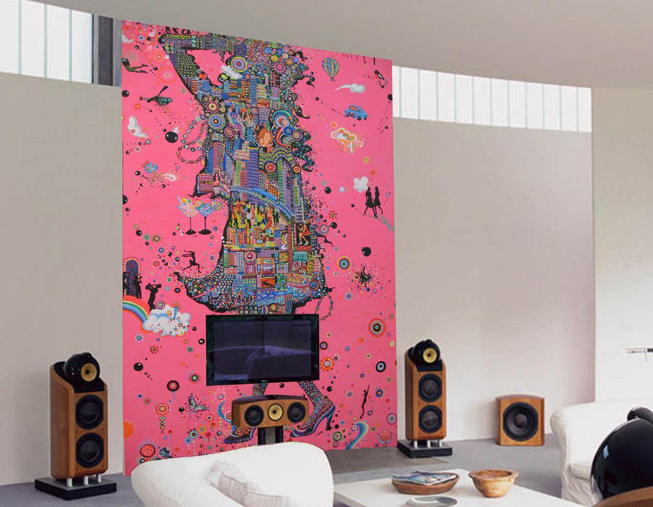 3D High Heels Frau Kurve 7 Tapete Wandgemälde Tapete Tapeten Bild Familie DE