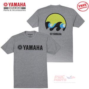 YAMAHA Uomo Coast Onda Barca Marino Pwc Waverunner Tee T-Shirt VDF-18TCT-GY-2X