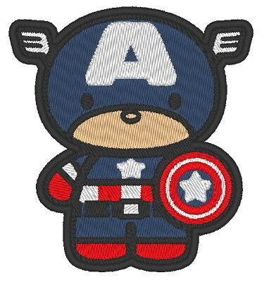 OYSTERBOY Super Hero Embroidered Tactical Decorative Applique Hook and Loop Backed Patch 9 PCS Assorted Super Heroes