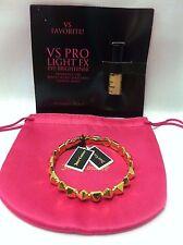 NWT Juicy Couture Geo Skinny Bangle Gold Pyramid Bracelet Free VS Eye Brightener