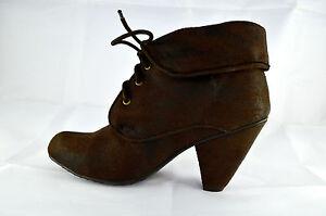 Women/'s UNIONBAY KARLINE Brown Heel Ankle High Heels Casual Dress Boots New