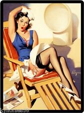 Sexy Pin Up On A Cruise Refrigerator Magnet