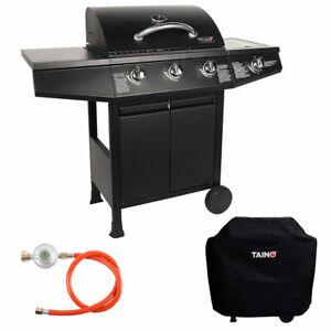 TAINO-BASIC-3-1-Brenner-Gasgrill-Abdeckung-Set-Regler-BBQ-Grill-Zubehor-schwarz
