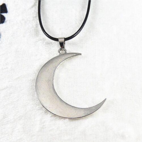 Vintage Alliage d/'Argent Simple Crescent Moon Charms Collier Pendentif Bijoux 39339