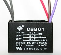 Ceiling Fan Capacitor Cbb61 4uf+5uf+5uf 5 Wire