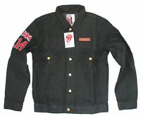 The Rolling Stones 14 On Fire Black Denim Jean Jacket Official