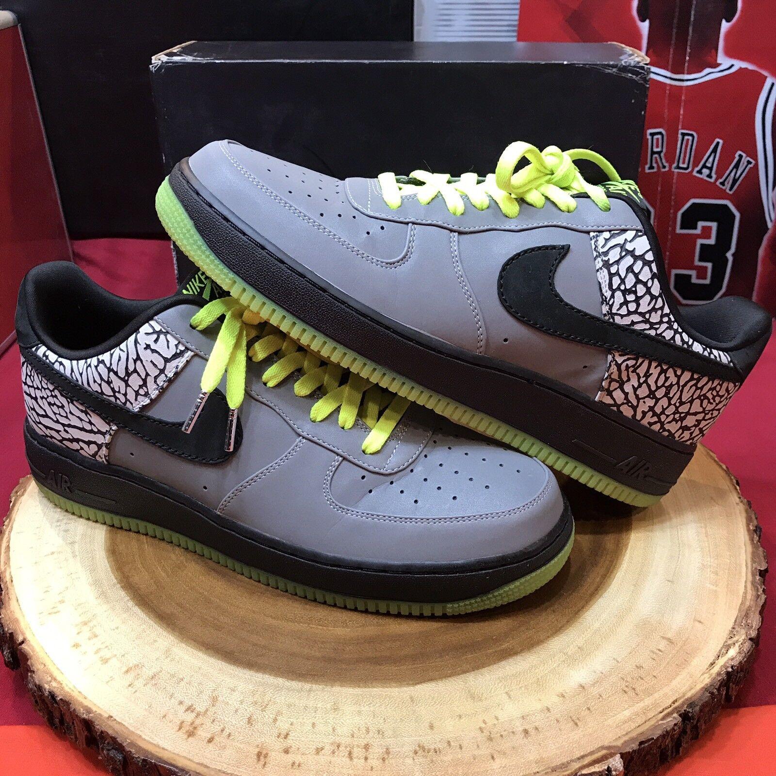 Nike Air Force One Premium bajo DJ Clark Kent Kent Clark cemento negro 329423 001 Jordania 10,5 comodo y atractivo 3eb29f