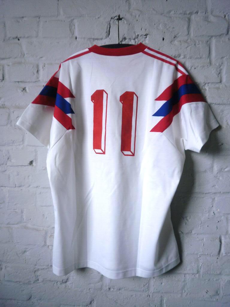MAGLIA ADIDAS Uomo Camicia da giocatore shirt nos CALCIO SHIRT 80er True Vintage 80s
