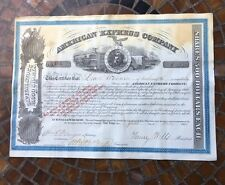 American Express Company Stock Certificate Signed Wells And Fargo # 1475