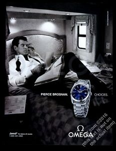 be83088d9de Image is loading 2004-Omega-Seamaster-watch-Pierce-Brosnan-photo-vintage-