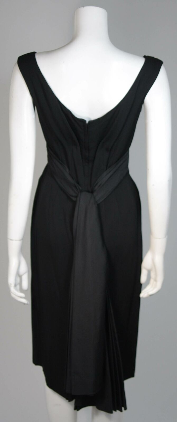CEIL CHAPMAN 1950s Black Draped Cocktail Dress Si… - image 6