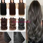 Real Thick One Piece Clip in Full Head Hair Extensions Extension As Human Hair