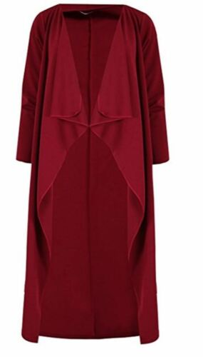 New Women Long Sleeve Waterfal Loose Cardigan Open Front Duster Maxi Coat Jacket