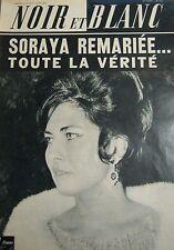 SORAYA en COUVERTURE de NOIR et BLANC No 1011 de 1964 AEROSTAT SUR LES ALPES