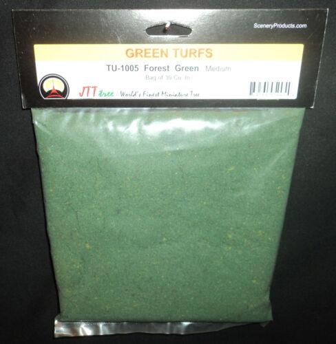 JTT SCENERY 95005 TURF FOREST GREEN  MEDIUM  30 CU IN    HO//O SCALE   JTT95005