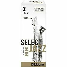 D/'Addario Rico RSF10ASX2H Filed Hard 2 Select Jazz Reed for Alto Sax 10 Pack
