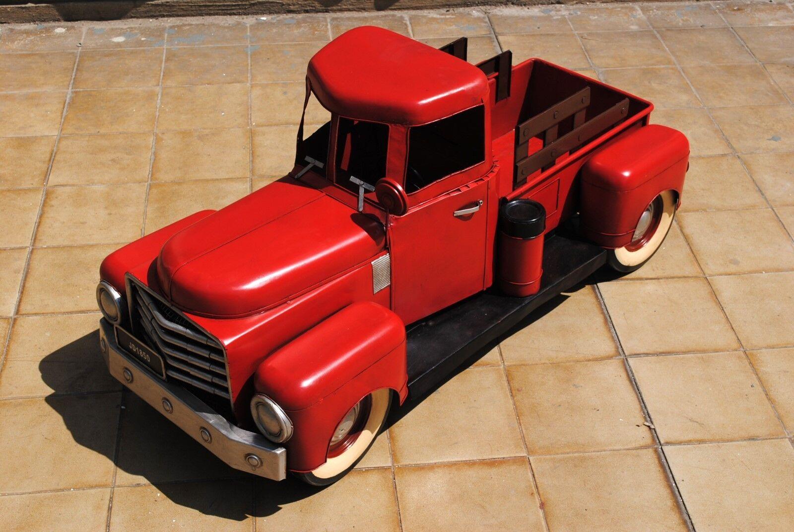 Auto voiture miniature pic up longueur 100cm Décoration Nº 2 tôle picup