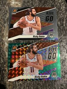 2019-20-Panini-Mosaic-12-Ricky-Rubio-Give-And-Go-Insert-Lot-2-Green-Prizm