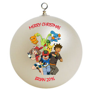 personalized pokemon friends christmas ornament gift add name ebay
