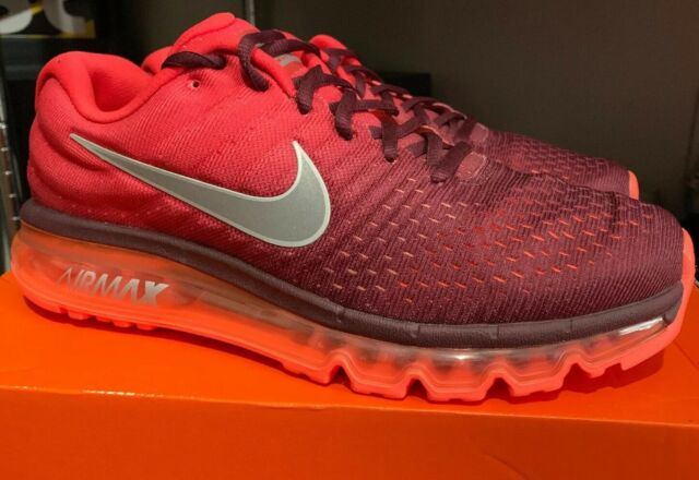 huge selection of b0431 cfd4f Nike Men's Shoes Air Max 2017 Running SNEAKERS Maroon Red 849559601 Retail 9