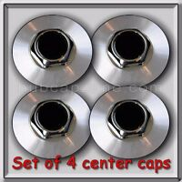 Set 4 Center Caps Hubcaps For 1994-2007 Chevy, Chevrolet Impala Aluminum Wheels