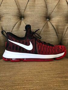pretty nice b030d 11f0b Image is loading Nike-Zoom-KD-9-IX-Red-Black-Size-