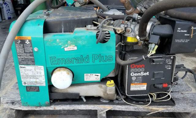Onan 4 8 kW Emerald Plus 5000 Propane or Gasoline Generator 120V 1ph 5527  Hours