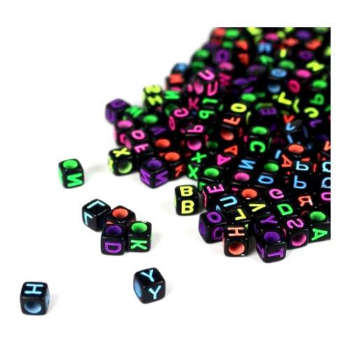Lettres Perles Noir Avec Colorés lettres de A à Z ou des lettres
