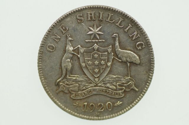 1920 Shilling George V in Almost Extremely Fine Condition