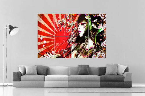 Geisha Tatoo  Wall Art Poster Grand format A0 Large Print