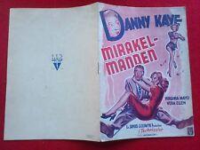 "Danish movie program.""Wonder Man""1945.Danny Kaye.Virginia Mayo.Vera Ellen"