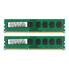 New 8GB 2x4GB DDR3 1600MHz PC3-12800U Dimm PC3-1600 Desktop RAM AMD Memory SDRAM