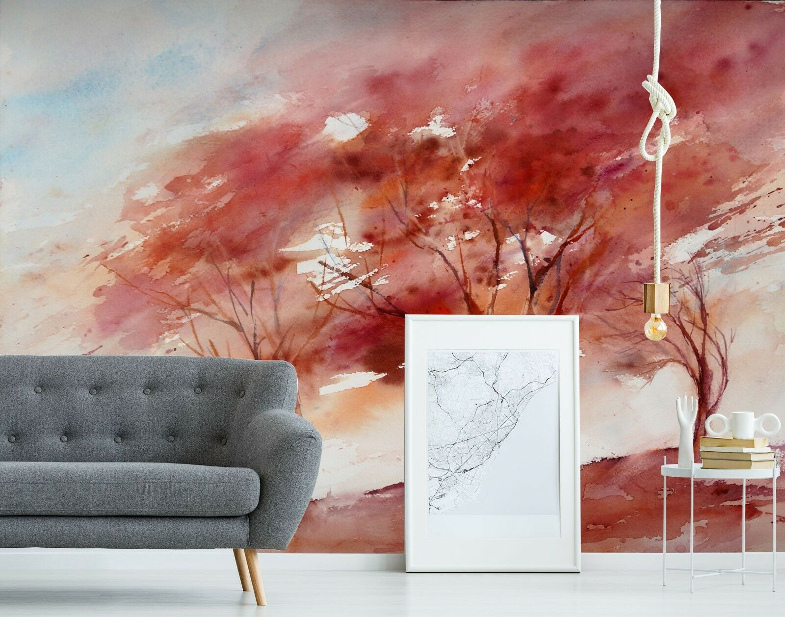3D 3D 3D Watercolor ROT Maple 42 Wall Paper Wall Print Decal Deco Indoor Wall Mural CA 1f7d95
