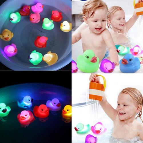 Lovely Mini LED Flashing Light Rubber Floating Duck Baby Kids Bathtub Shower Toy