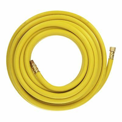 "10m Air Hose 8mm Soft Rubber Air Line Compressor 1/4"" Bsp Brass Ends High Vis SorgfäLtig AusgewäHlte Materialien"